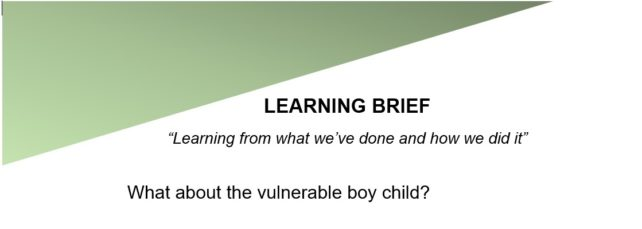 What about the vulnerable boy child?