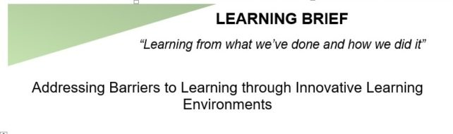Addressing Barriers to Learning through Innovative Learning Environments