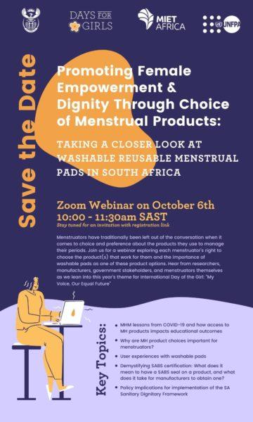 SAVE THE DATE    MIET AFRICA Hosts Webinar    6 October