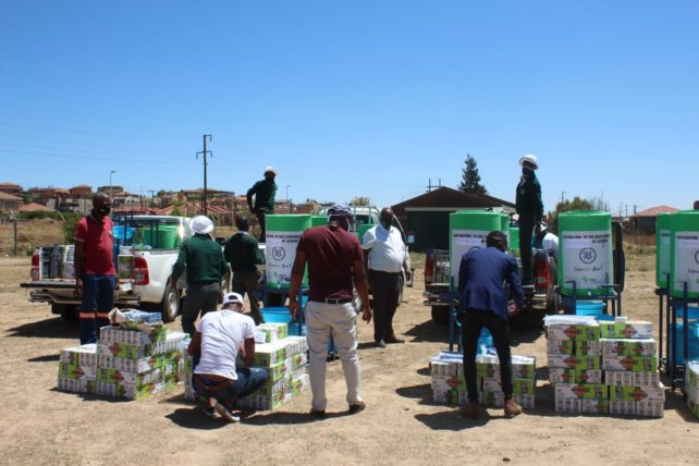 Fighting COVID-19: Thanks to GLOHOMO's rapid needs assessment, funding from the SDC saw protective equipment delivered to all 10 Future-Life Now! schools in Lesotho