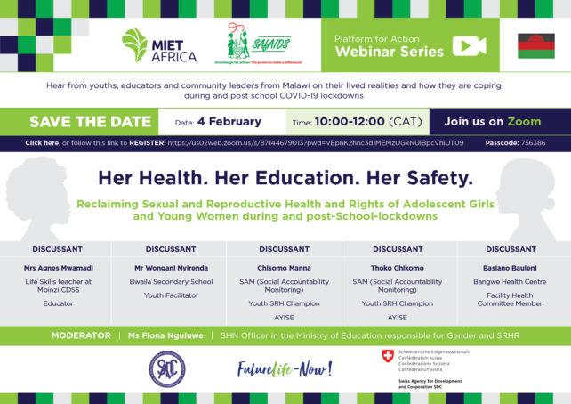 Webinar || Her Health. Her Education. Her Safety || 4 February